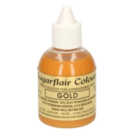 Sugarflair airbrush colouring  gold 60 ml