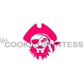 Pirate Face Stencil