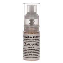Sugarflair Pump Spray Glitter Dust -Dark Gold-
