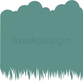 Gras & wolken  cookie stencil