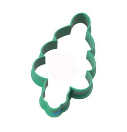 Geluks popje 13 dennenboom  cookie cutter & kaartje(S)