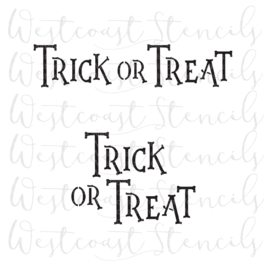 Trick or treat cookie stencil