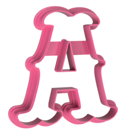 Letters fantasia cookie cutter