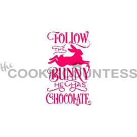 Follow the Bunny... Stencil