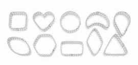 Geometrische vormen gekarteld koek-it