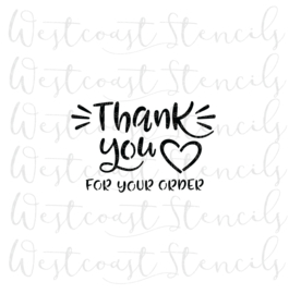 Thank you for your order  cookie stencil