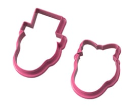 Skull couple cookie cutters