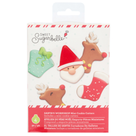 Sweet sugarbelle - mini cutters - SANTA'S WORKSHOP (4 PIECE)