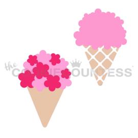 Bouquet or Ice Cream - 2 Piece Stencil