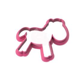 Paard  cookie cutter & stencil
