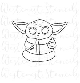 Baby Yoda  PYO cookie stencil