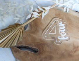 Cijfer four met bijpassende cookie cutter 2 delig - oh my cookie