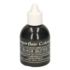 Sugarflair airbrush colouring glitter black 60 ml