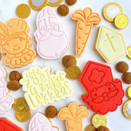 Wortel cookie stempel & cookie cutter 2 delig
