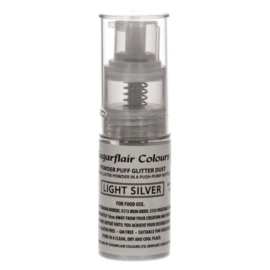 Sugarflair Pump Spray Glitter Dust -Light Silver-