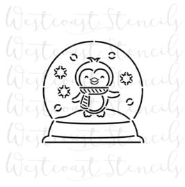PinQuin snow globe  PYO cookie stencil