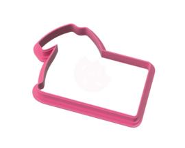 Pyjama plaque cookie cutter