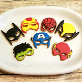 Superhelden maskers cookie cutters 7 delig