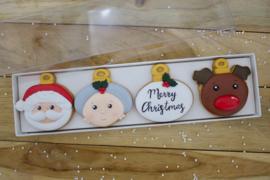 Kerstballen set doosje  4 delig cookie cutters