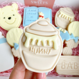Honing pot cookie stempel & cookie cutter 3 delig