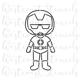 Kid ironman stencil