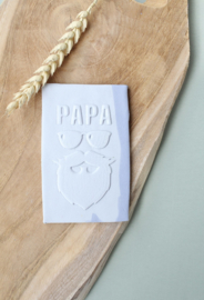 Vaderdag Papa hipster (8cm) - oh my cookie