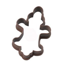 Geluks popje 14 gingerbread  cookie cutter & kaartje(S)