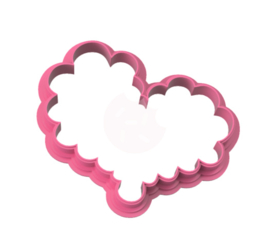 Bubble hart cookie cutter