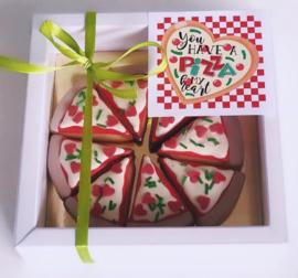 Stickers voor mini pizza doosje 12 stuks per vel