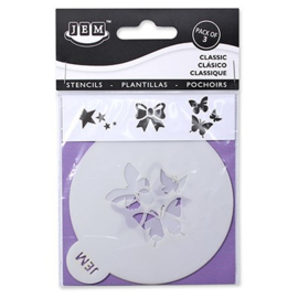 "JEM STENCIL - CLASSIC SET OF 3 (90MM / 3.5"")"