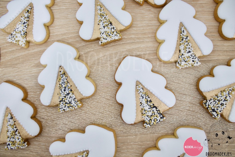 Kerstboom chubby cookie cutter