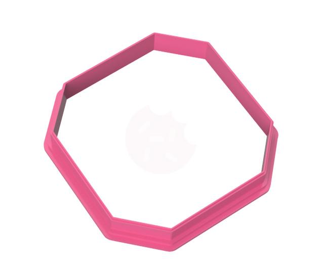 Vierkante 8 hoek cookie cutter