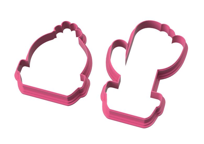 Duo cactus cookie cutter set