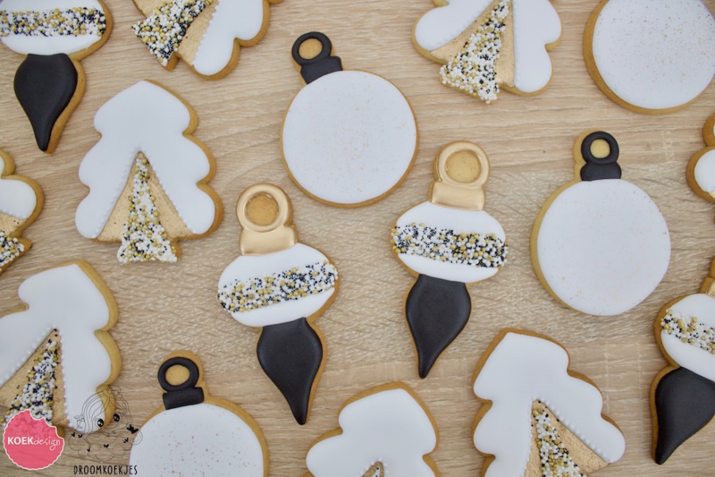 Kerstballen set  cookie cutter