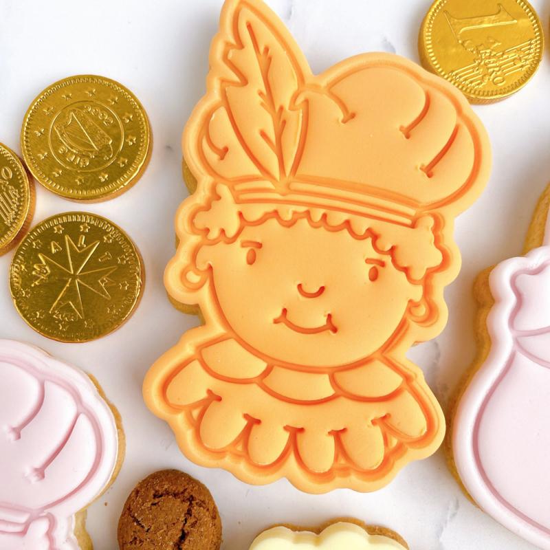 Piet cookie stempel & cookie cutter - 2 delig