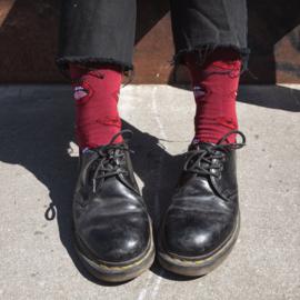 Socks Sigtuna Lips Pattern