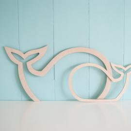 SILHOUET | walvis (klein)