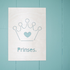 HOUTEN POSTER | Prinses