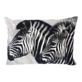 kussen Fluweel Zebra