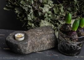 Stenen ornament geschikt voor waxinelichtje