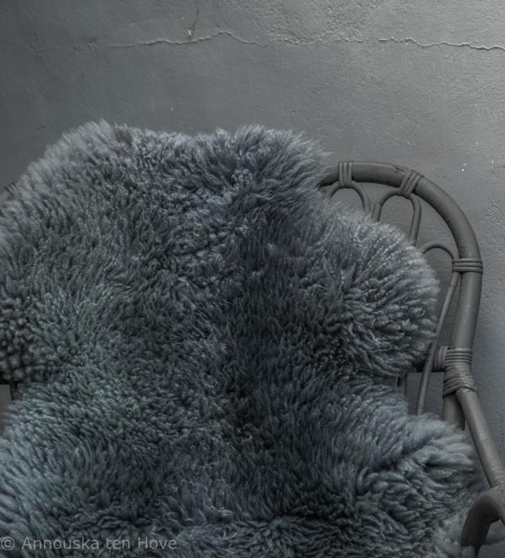 Schapenvacht grijsblauw