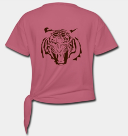 Geknoopt t-shirt dames TIJGER