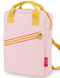 Rugzak large 'Zipper new Pink'