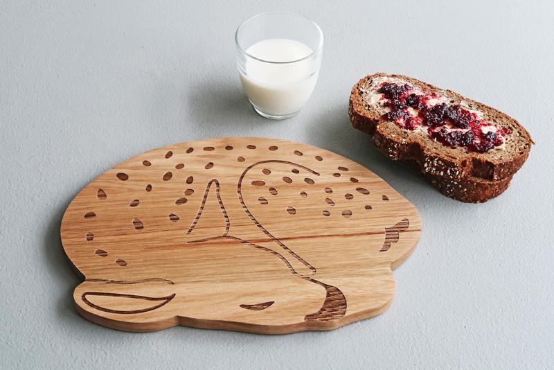 Ontbijtplankje hout BAMBI