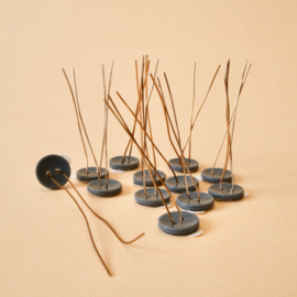 Plantknoopje | 12 stuks |  grijs | Ø 16mm