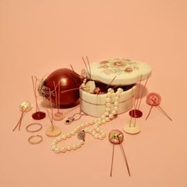 PlantButton | 12 pcs | Vintage Mix | Pink