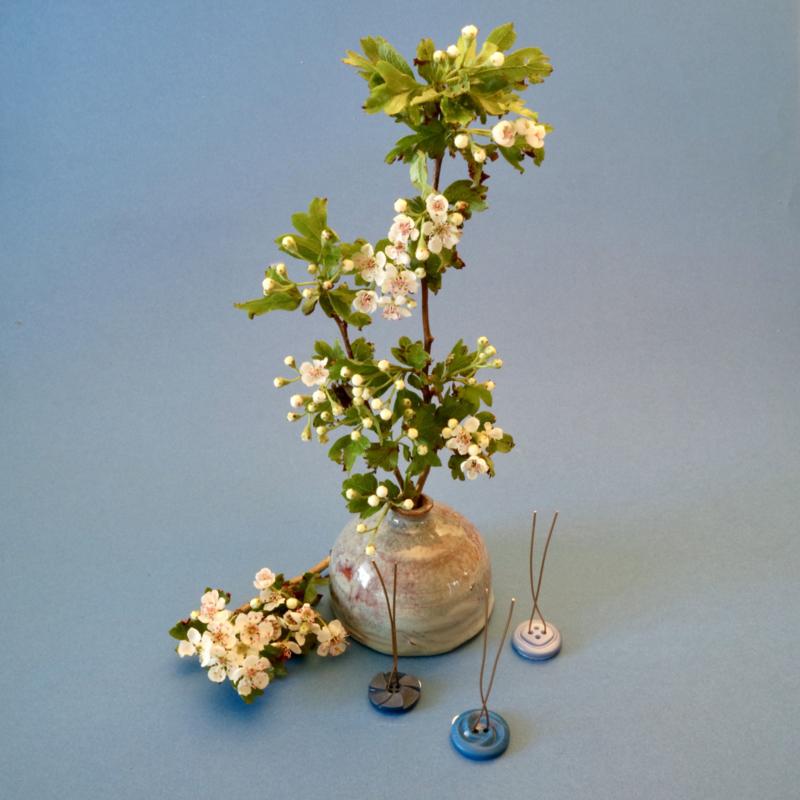 Plantknoopje | 12 stuks | VintageMix | Blauw