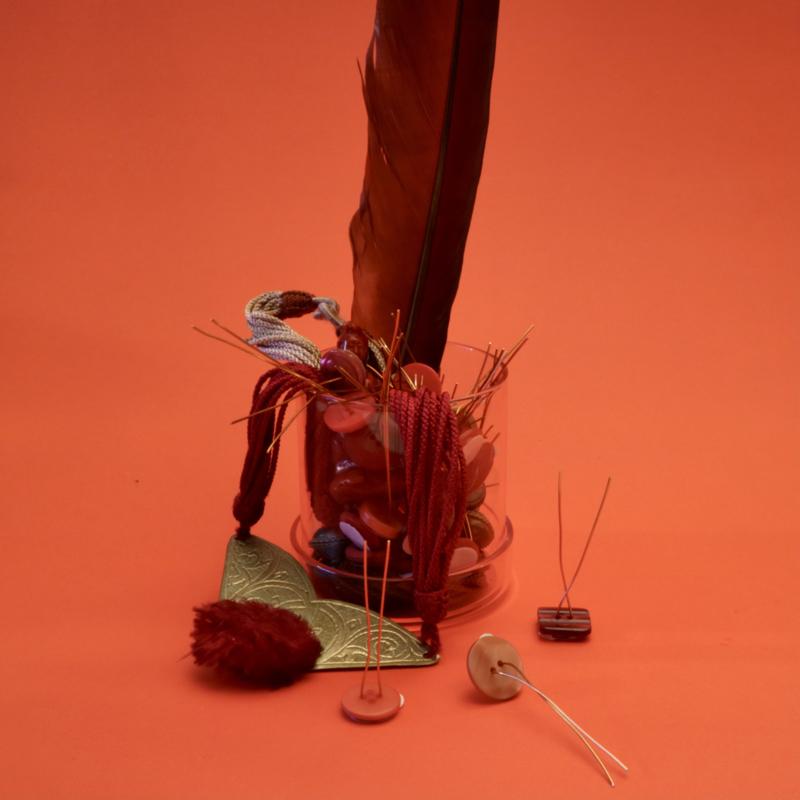 PlantButton | 12 pcs | Vintage Mix | Red