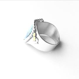 Ring met abolone-schelp