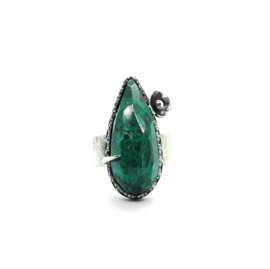 Ring met chrysocolla